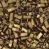 Miyuki Tila Half Cut 5X2.3mm 2Hole Dark Bronze Opaque metallic